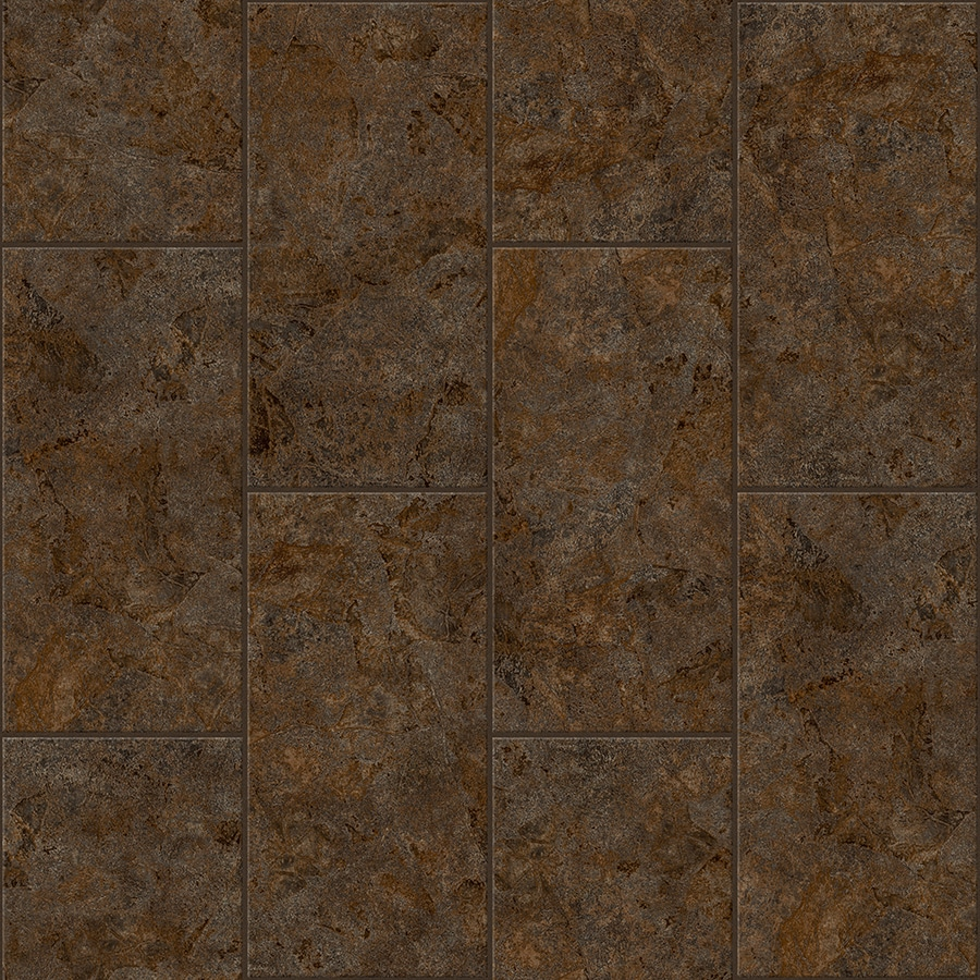 Congoleum LVT 12x24 10-Piece 12-in x 24-in Groutable Brown Glaze Glue Stone Luxury Residential Vinyl Tile