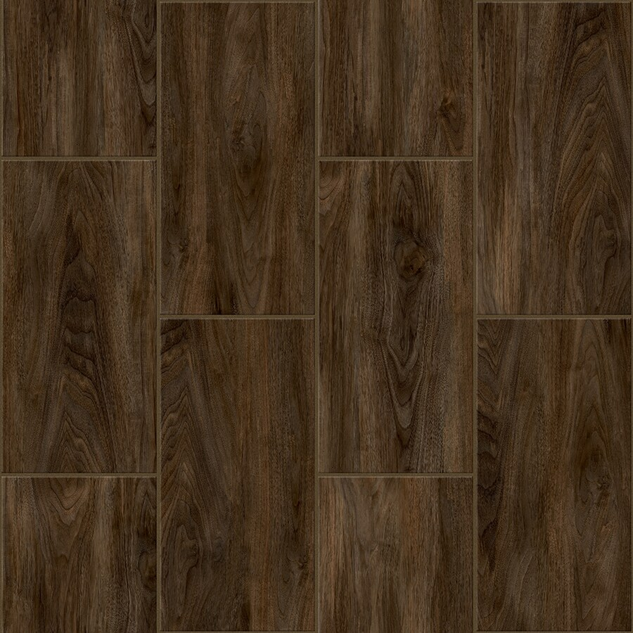 Congoleum Lvt 12X24 10-Piece 12-in x 24-in Groutable Kokutan Glue Wood Luxury Residential Vinyl Tile