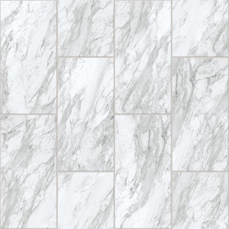 Congoleum Durastone Carrara White Vinyl Tile Sample At