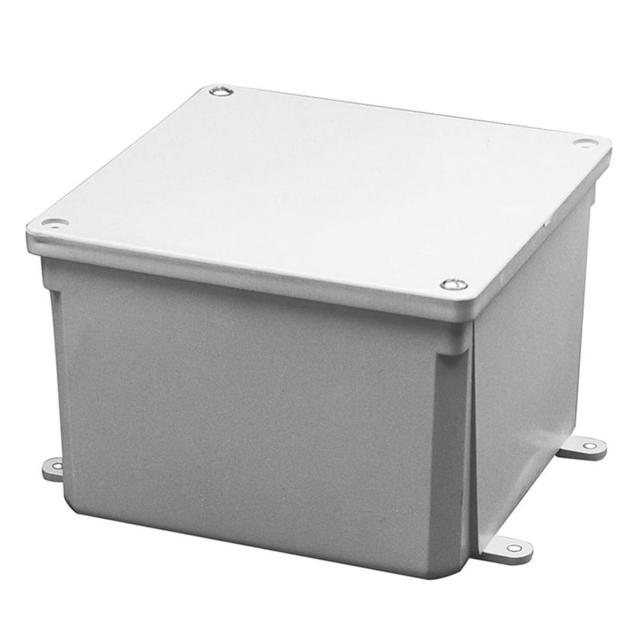 Plastic Weatherproof Electrical Boxes: CANTEX Junction Box-Gang Gray Plastic Weatherproof