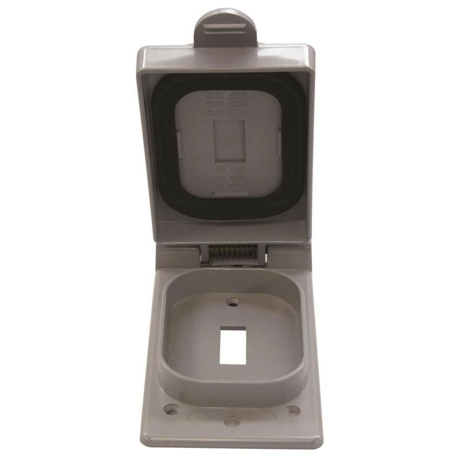 CANTEX 1-Gang Rectangle Plastic Weatherproof Electrical Box Cover