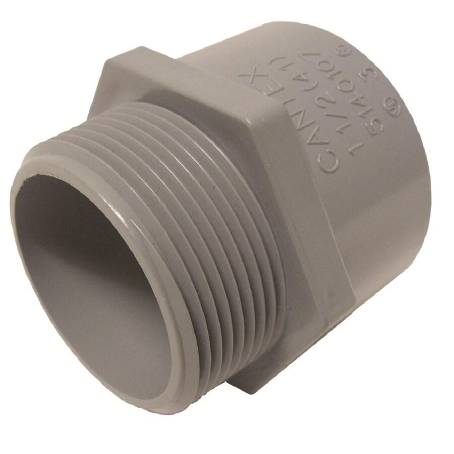 CANTEX 1-Pack 1/2-in Schedule 40 PVC Adaptor