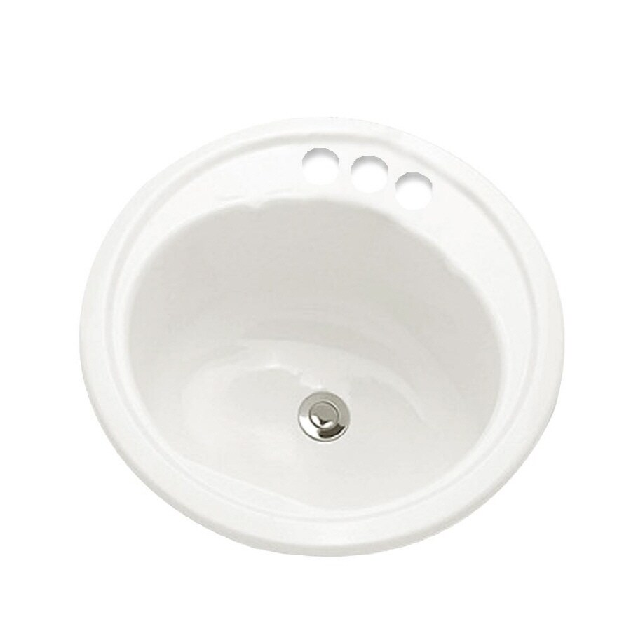 Shop Crane Plumbing Altanta White Enameled Steel Bath Sink At