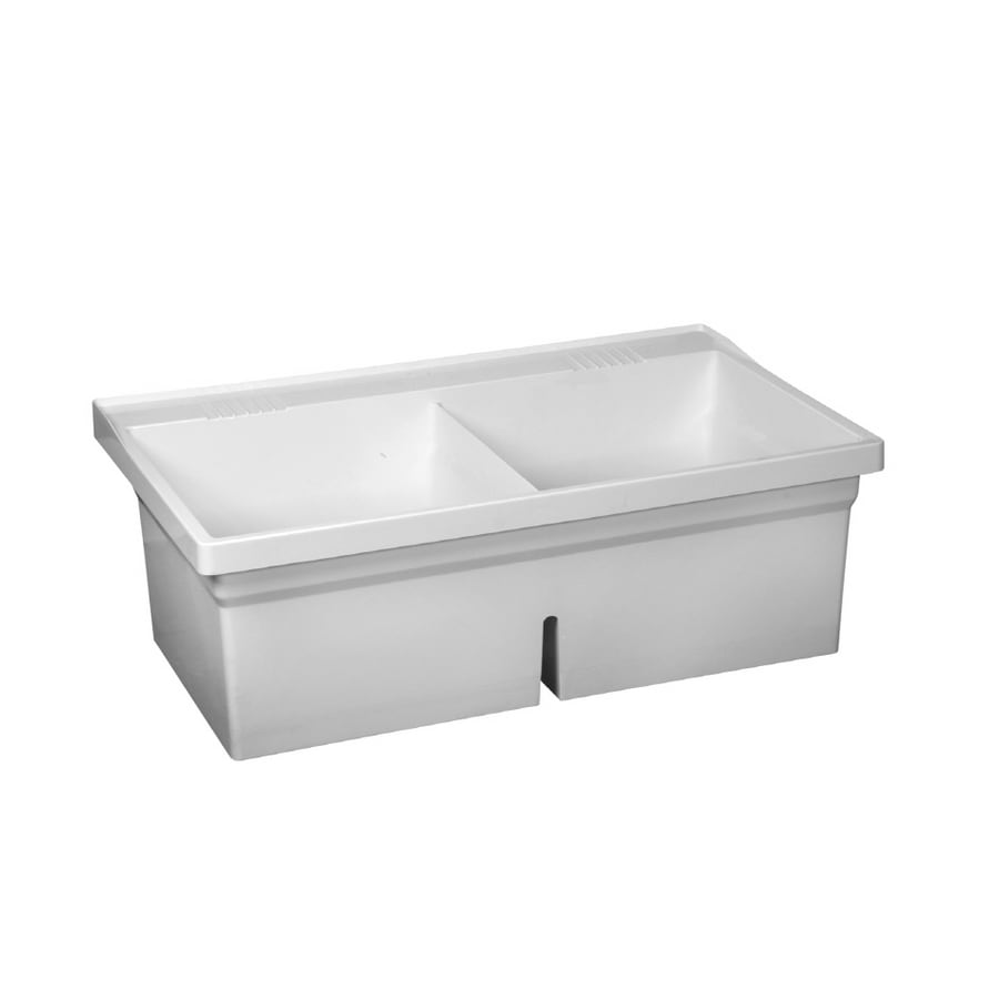FIAT White Wall Mount Composite Acrylic Laundry Sink