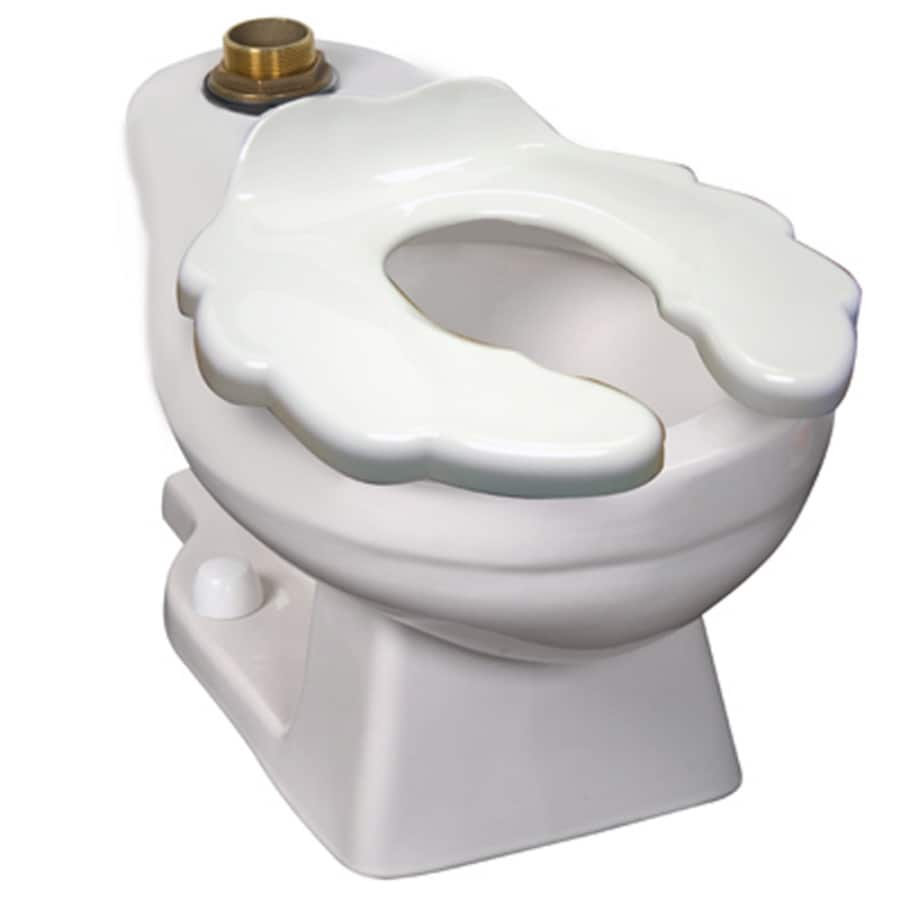 Crane Plumbing Baby Bowl White Elongated Toilet Bowl