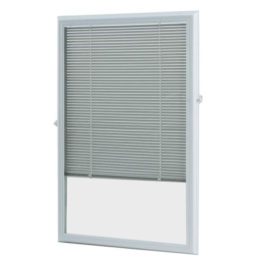 ODL Cordless White Aluminum Light Filtering Door Mini-Blinds (Common 25-in; Actual: 24.75-in x 36-in)