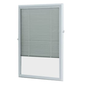 ODL 0.59-in Cordless White Aluminum Door Mini Blinds (Common: 25-in; Actual: 24.75-in x 36-in)