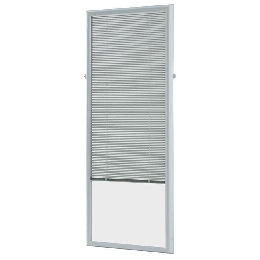 ODL 0.59 In Cordless White Aluminum Light Filtering Door Blinds Mini Blinds
