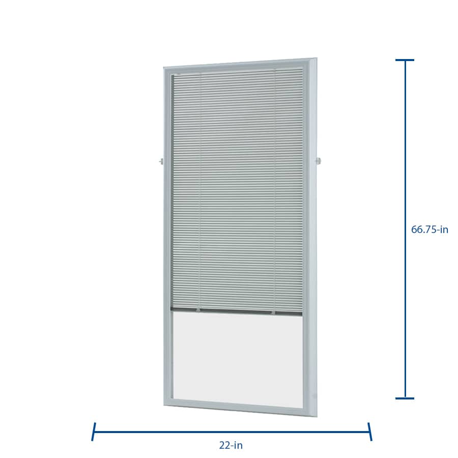 Odl Add On Blind 0 59 In Slat Width 22 In X 64 In Cordless White Aluminum Light Filtering Full View Standard Mini Blinds In The Blinds Department At Lowes Com