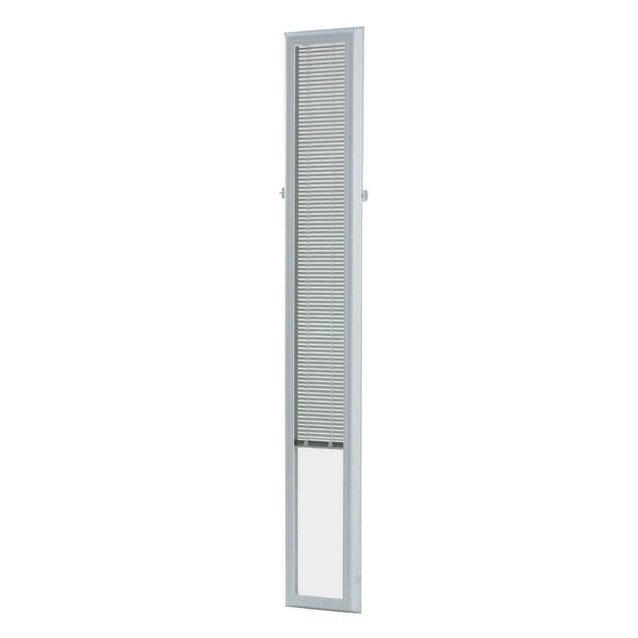 ODL 0.59-in Cordless White Aluminum Light Filtering Door Blinds Mini-Blinds (Common 10-in; Actual: 9.75-in x 64-in)