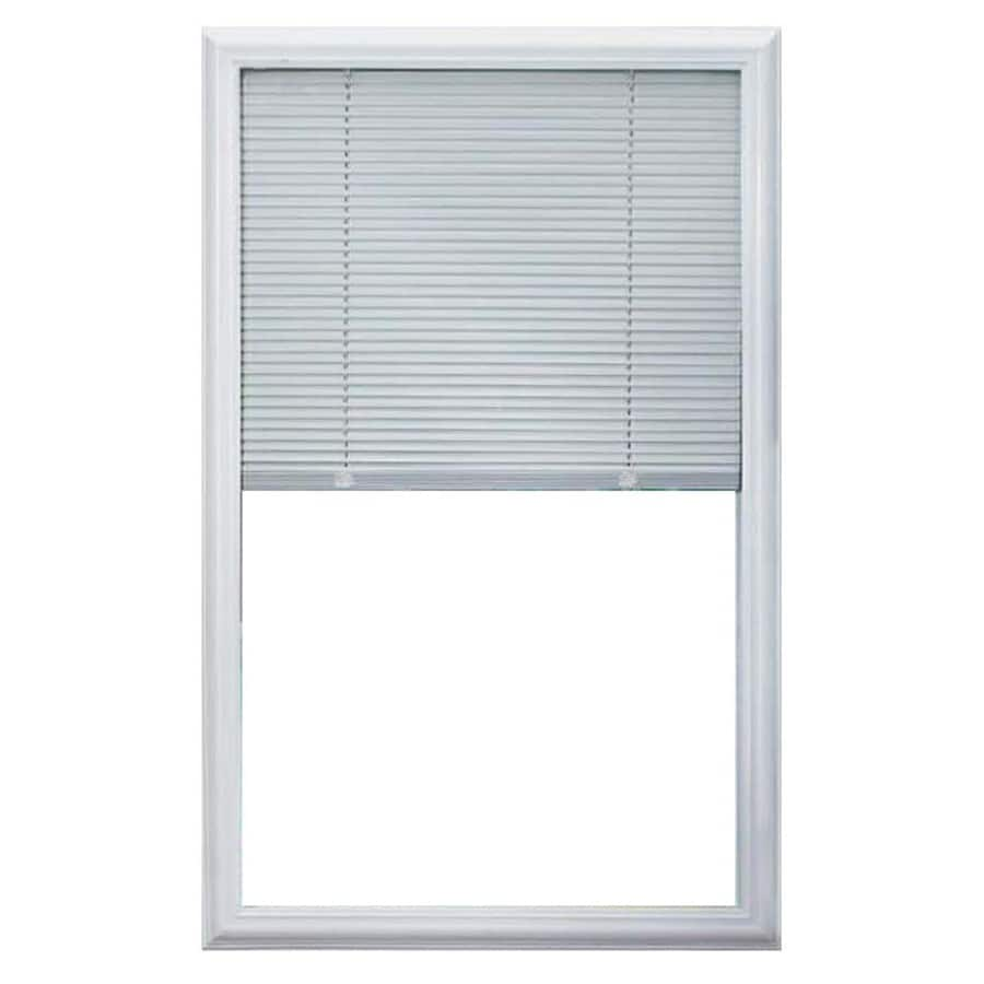 ODL 0.59-in Cordless White Aluminum Light Filtering Door Blinds Mini-Blinds (Common 25-in; Actual: 24.75-in x 36-in)