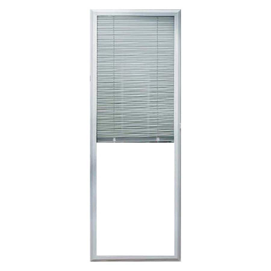 Odl 0 59 In Cordless White Aluminum Light Filtering Door Blinds Mini Common