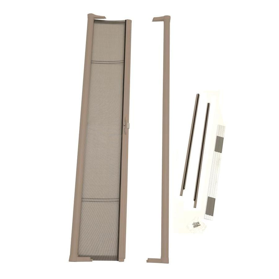 Shop odl sandstone aluminum retractable screen door for Disappearing screen doors lowes