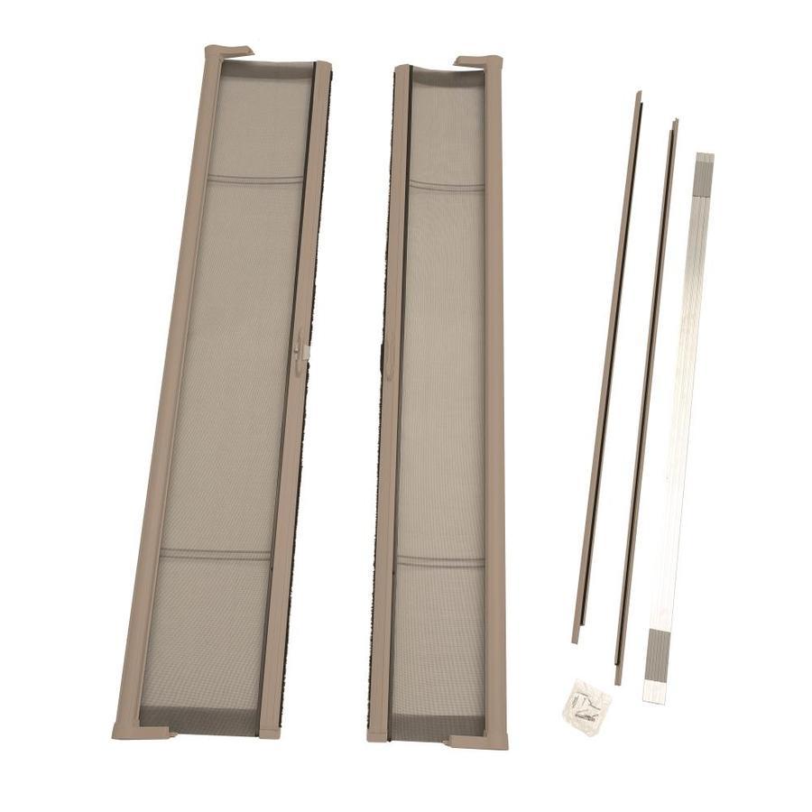 ODL Sandstone Aluminum Retractable Screen Door (Common: 79-in x 79-in; Actual: 79-in x 79-in)