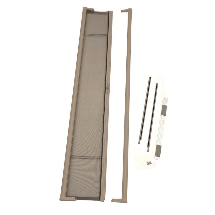 ODL Sandstone Aluminum Retractable Screen Door (Common: 36-in x 81-in; Actual: 36-in x 81-in)