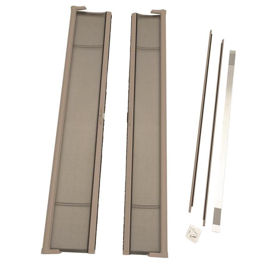 ODL ODL Brisa Retractable Screen Sandstone Aluminum Retractable Screen Door (Common: 79.0x 79.0; Actual: 79.0 x 79.0)