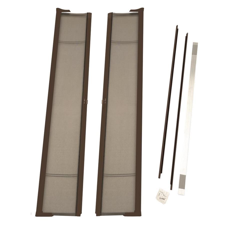 Shop odl bronze aluminum retractable screen door common for Retractable screen door magnets