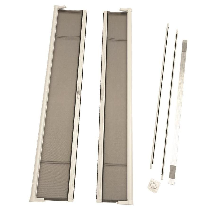 white tall odl retractable door single screen p visiscreen brisa x in doors