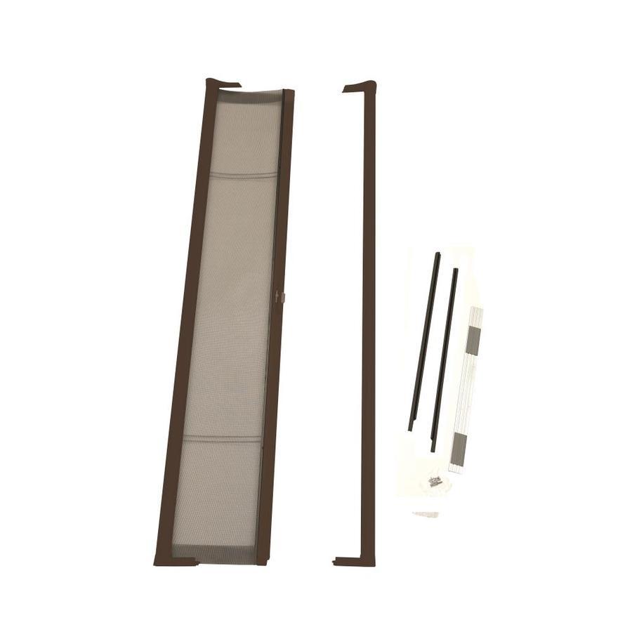 Shop odl bronze aluminum retractable screen door common for Retractable screen door lowes