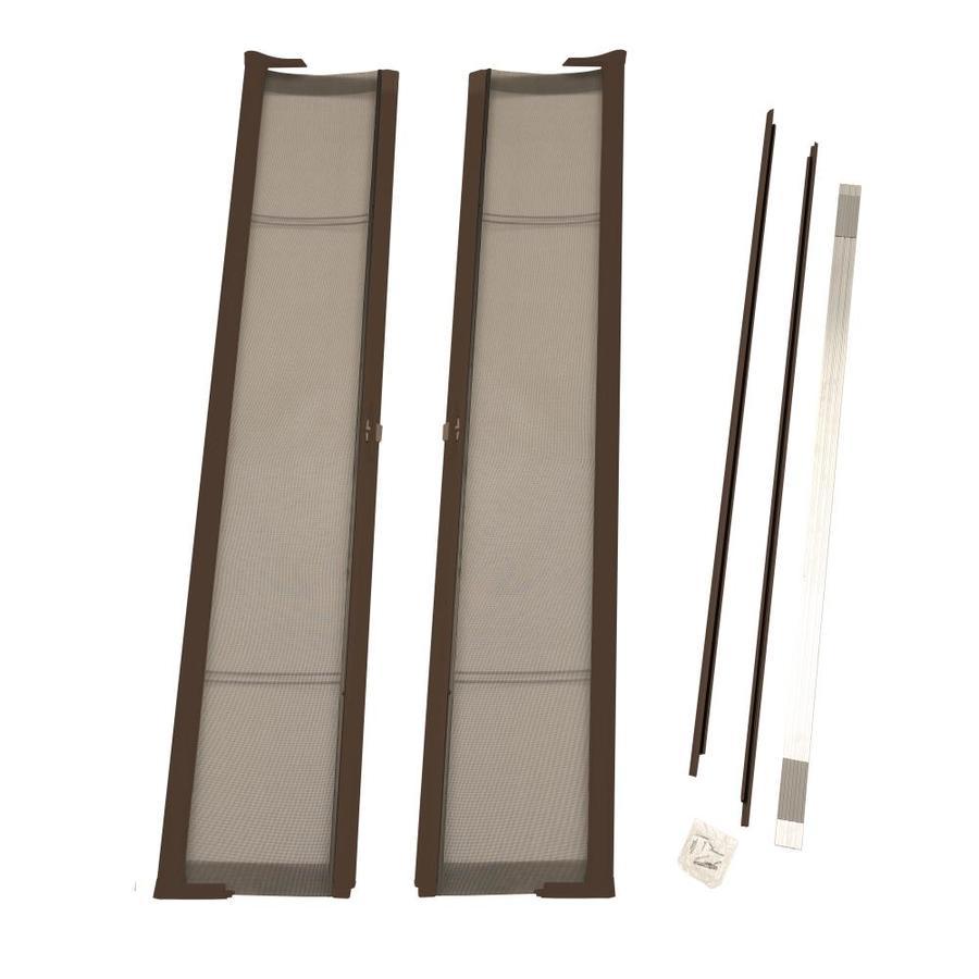 ODL Bronze Aluminum Retractable Screen Door (Common: 79-in x 78-in; Actual: 79-in x 78-in)