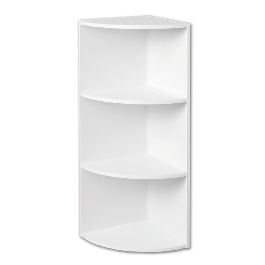 Closetmaid white corner shelf organizer at - White bathroom corner shelf unit ...