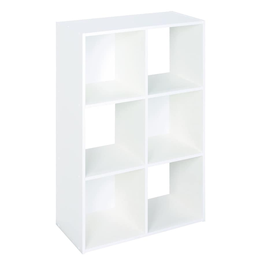 Elegant ClosetMaid 6 White Laminate Storage Cubes