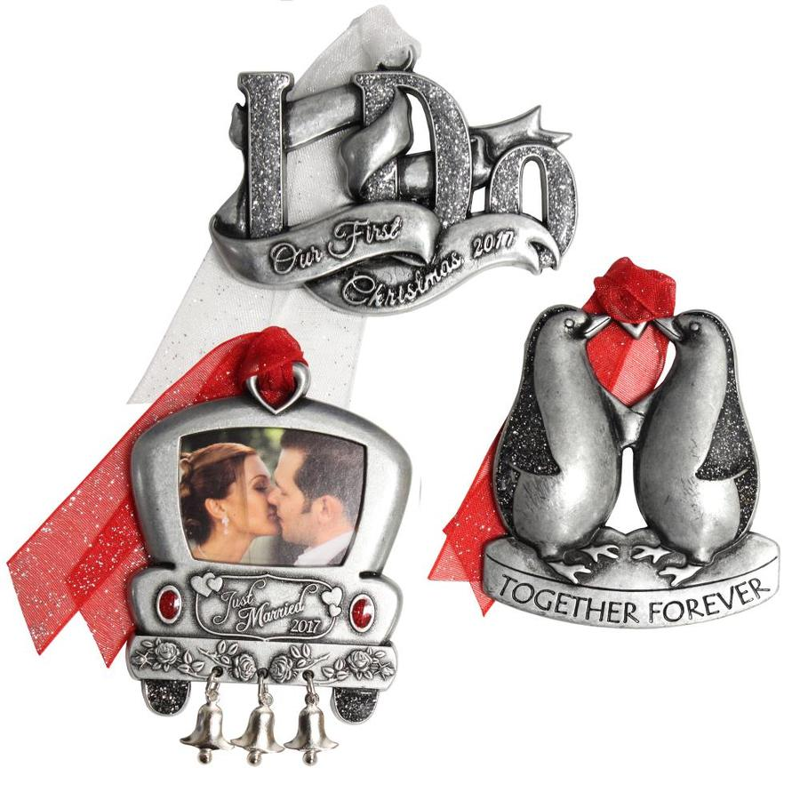 First married christmas ornament - Gloria Duchin 3 Pack Pewter Just Married 2016 Together Forever Our First Christmas