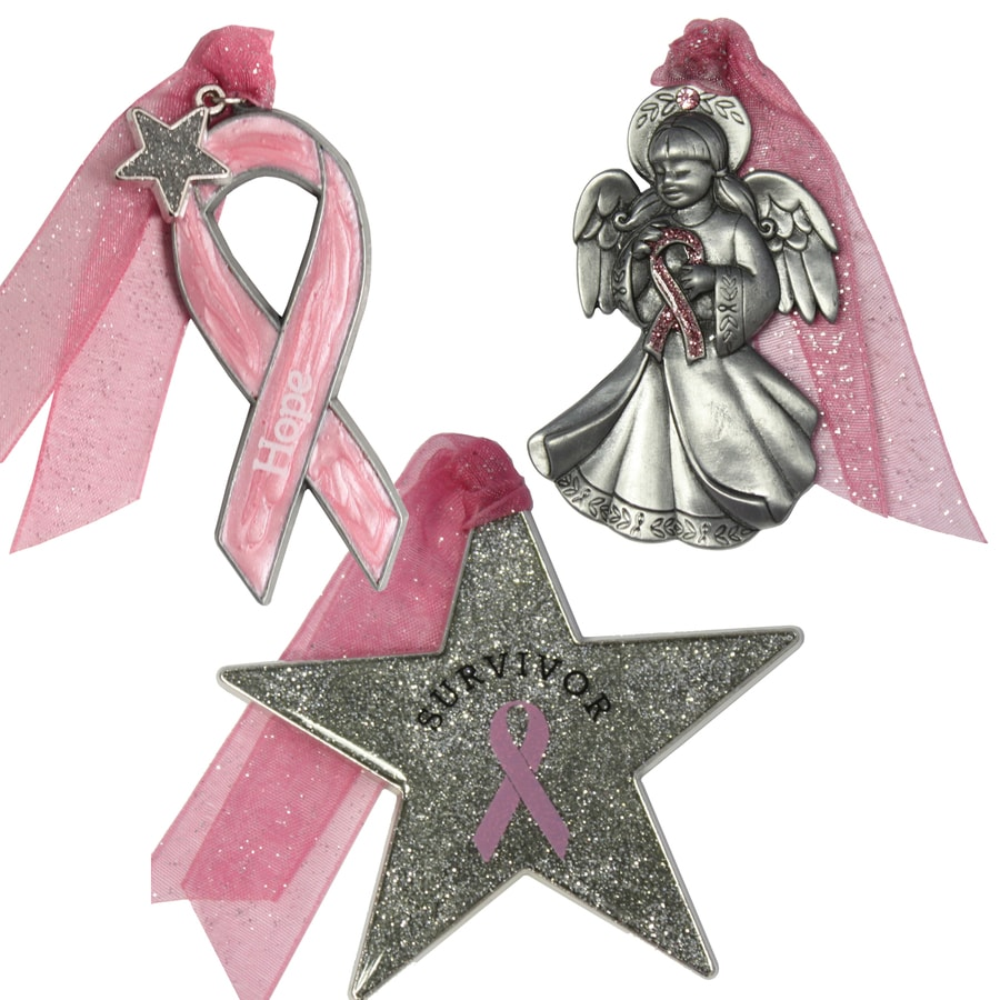 Gloria Duchin 3-Pack Pewter Survivor Ornament Set
