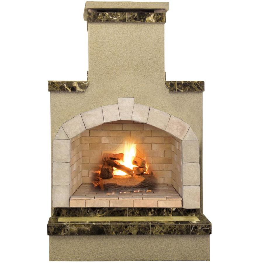 5 Homes That Prove That Less Is More: Shop Cal Flame 55,000-BTU Brown Composite Outdoor Liquid