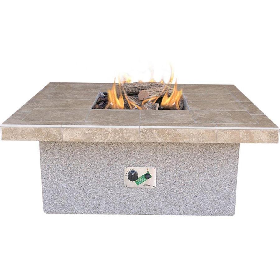 Cal Flame 48-in W 55000-Btu Beige Composite Liquid Propane Fire Pit