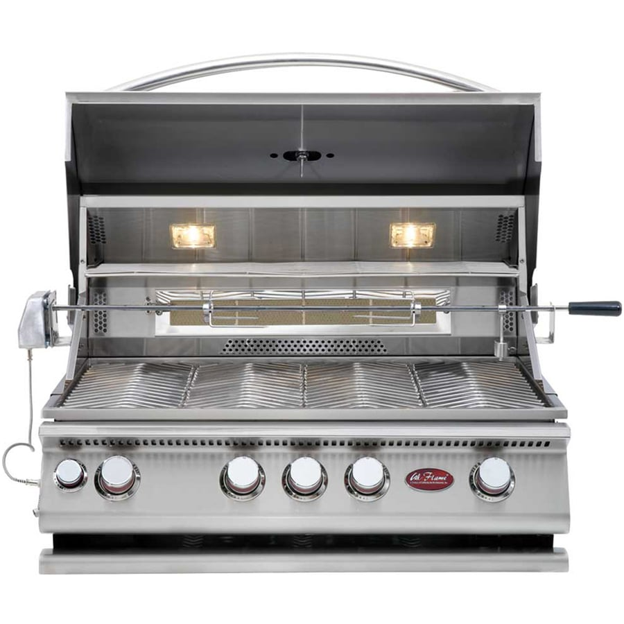 Cal Flame 4-Burner Built-In Liquid Propane and Natural Gas Grill