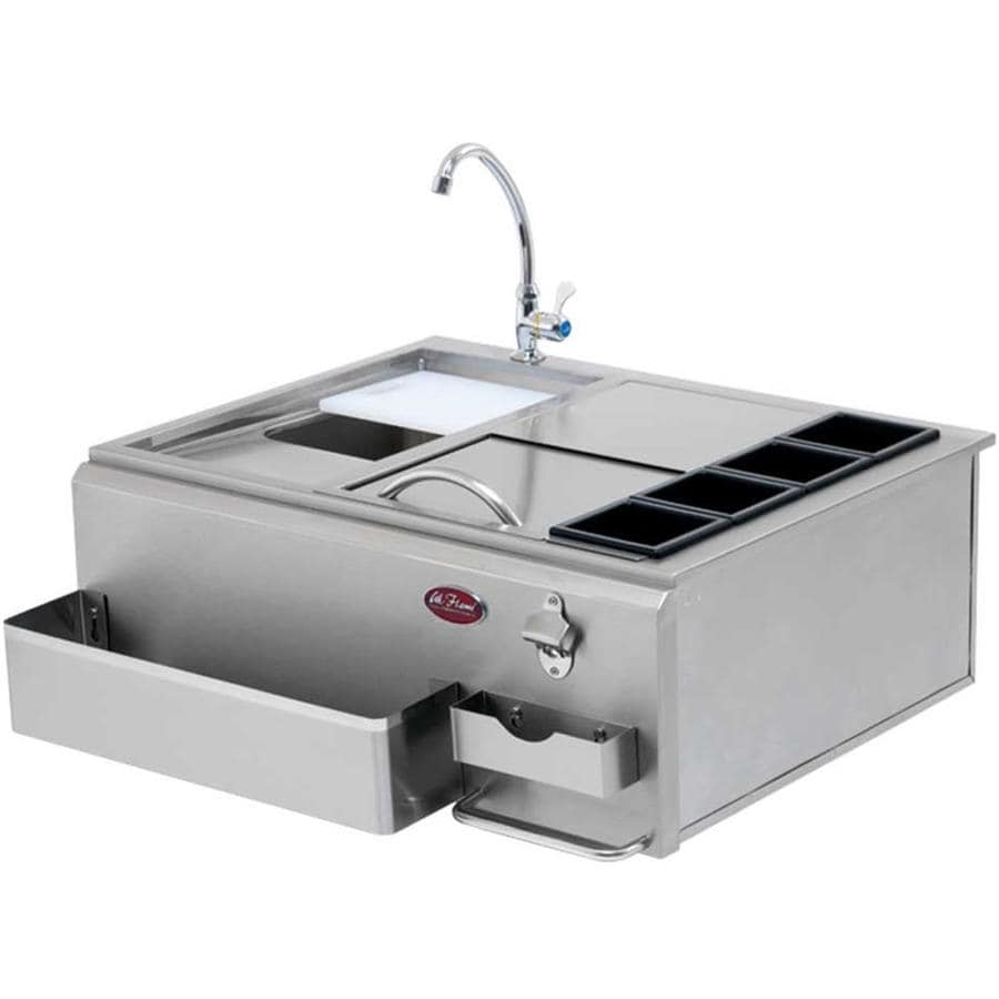 Cal Flame Modular Outdoor Sink with Side Burner