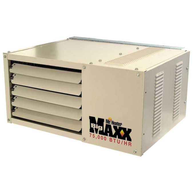 Mr Heater 75 000 Btu Forced Air Garage Heater Natural Gas In The Gas Garage Heaters Department At Lowes Com