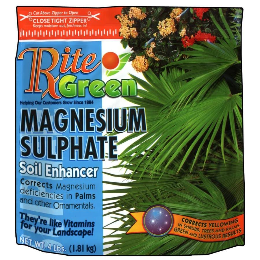 Rite Green Magnesium Sulphate 4-lb Organic/Natural Tree and Shrub Food