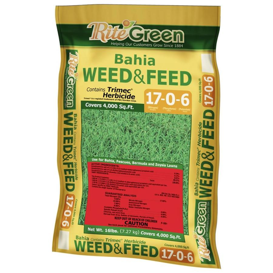 Rite Green 4,000-sq ft Bahia Weed and Feed Organic or Natural Lawn Fertilizer (17-0-6)