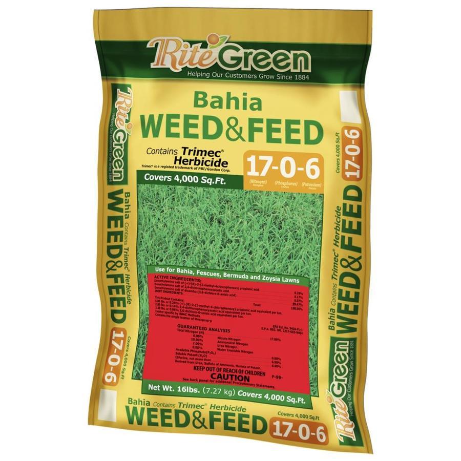 Rite Green Bahia Weed and Feed 20-lb Lawn Fertilizer (17-6)