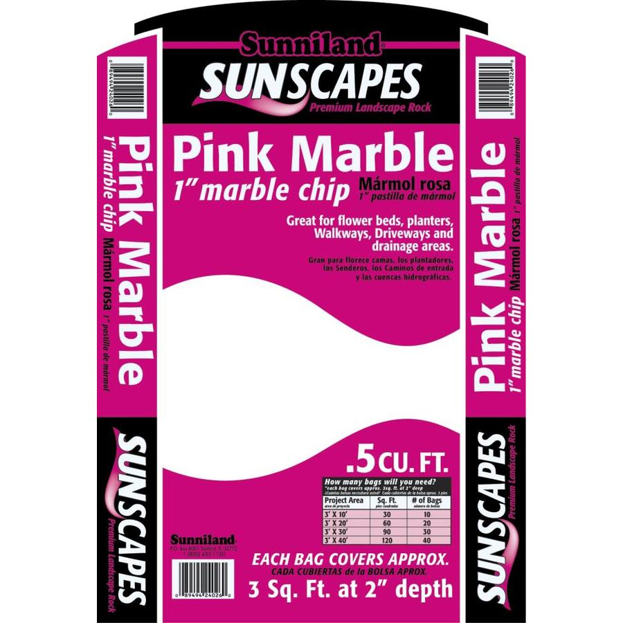 Sunniland 0.5-cu ft Pink Marble Chips