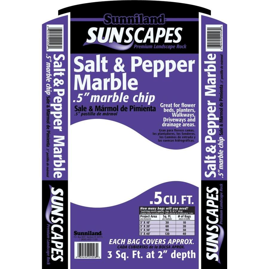 Sunniland 0.5-cu ft Salt and Pepper Rock