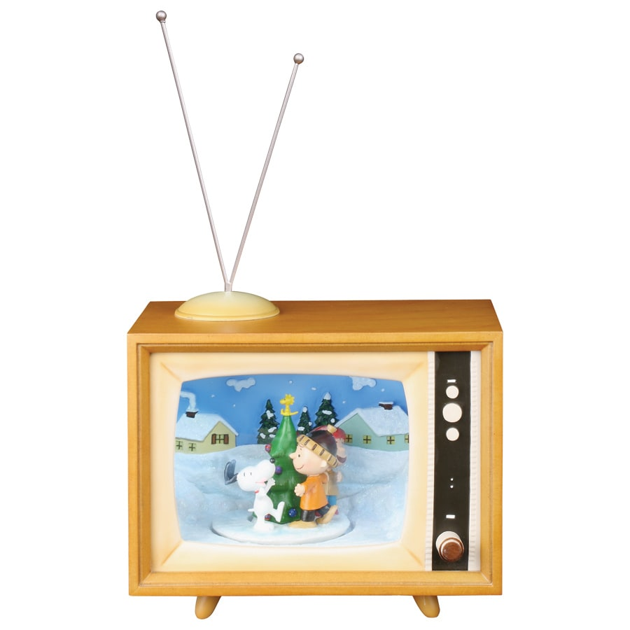 peanuts christmas plastic lighted musical peanuts retro tv