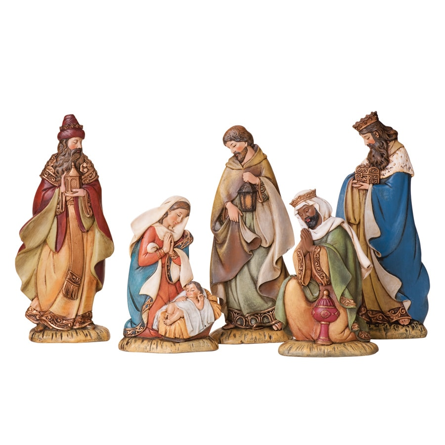 Joseph's Studio Christmas 5-Piece Resin Nativity Set