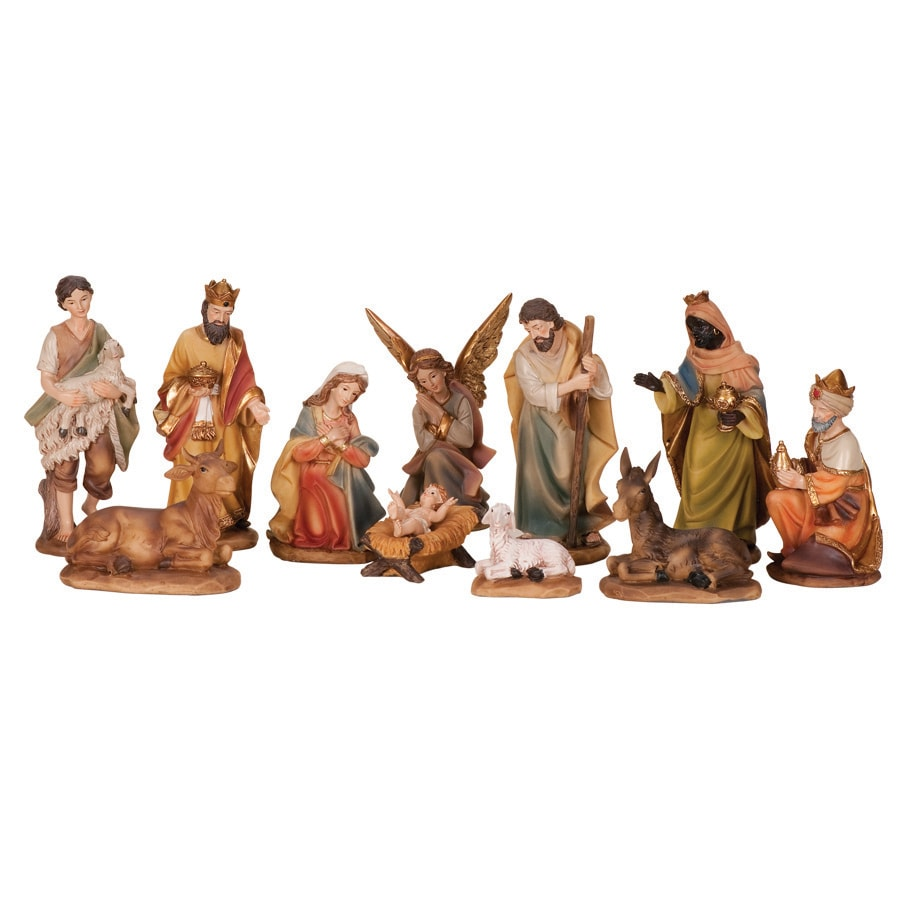 Roman Christmas 11-Piece Resin Nativity Set
