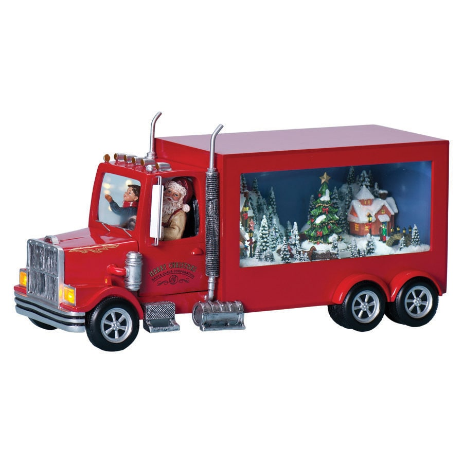 Amusements Christmas Resin Lighted Musical 10-Wheeler Truck