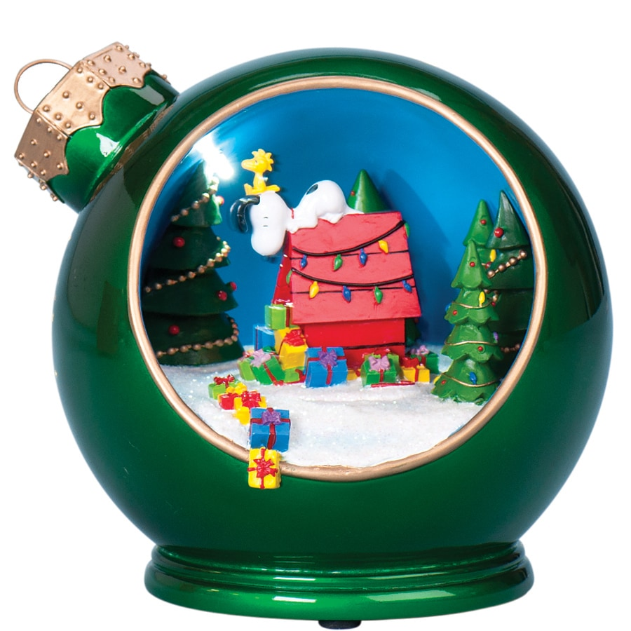 Peanuts Lighted Musical Snoopy Shape Ornament