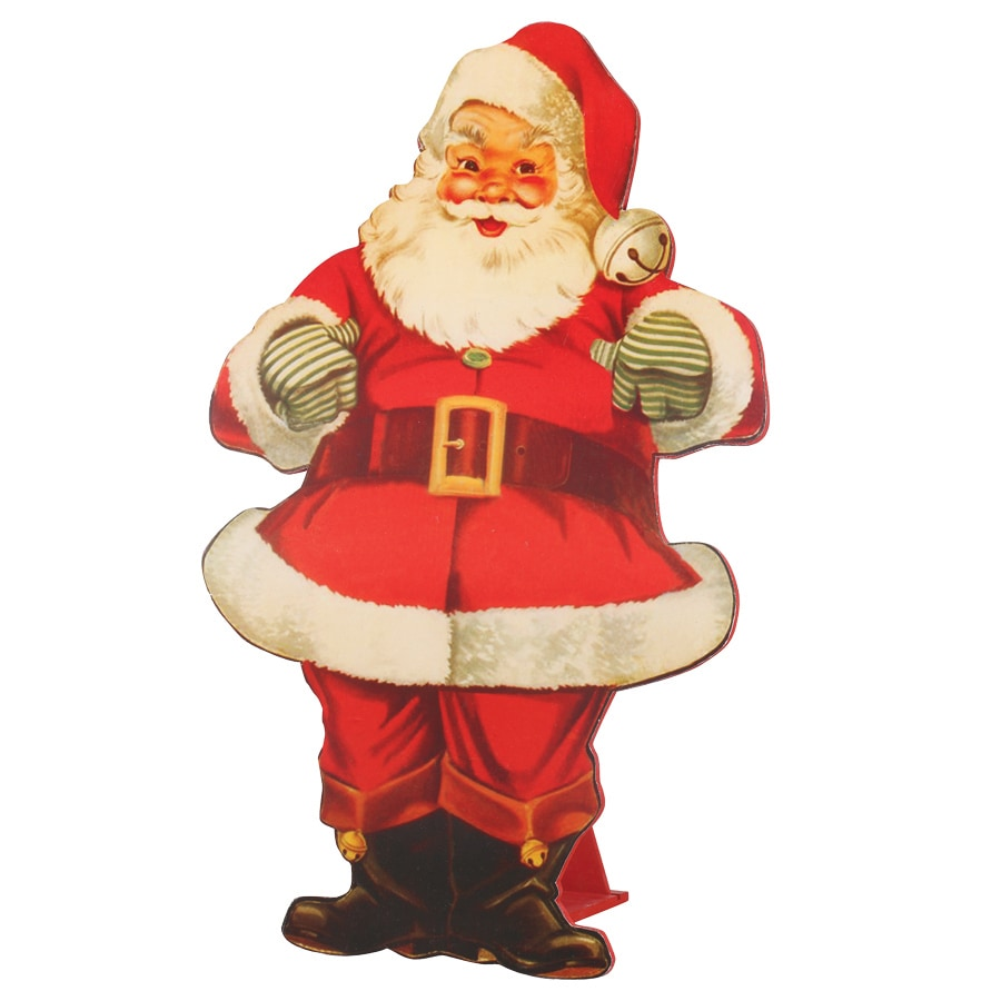 Christmas Wood Santa with Stand