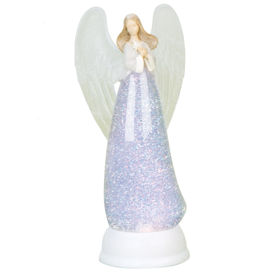 Glitterdome Christmas Resin Lighted Angel Glitterdome