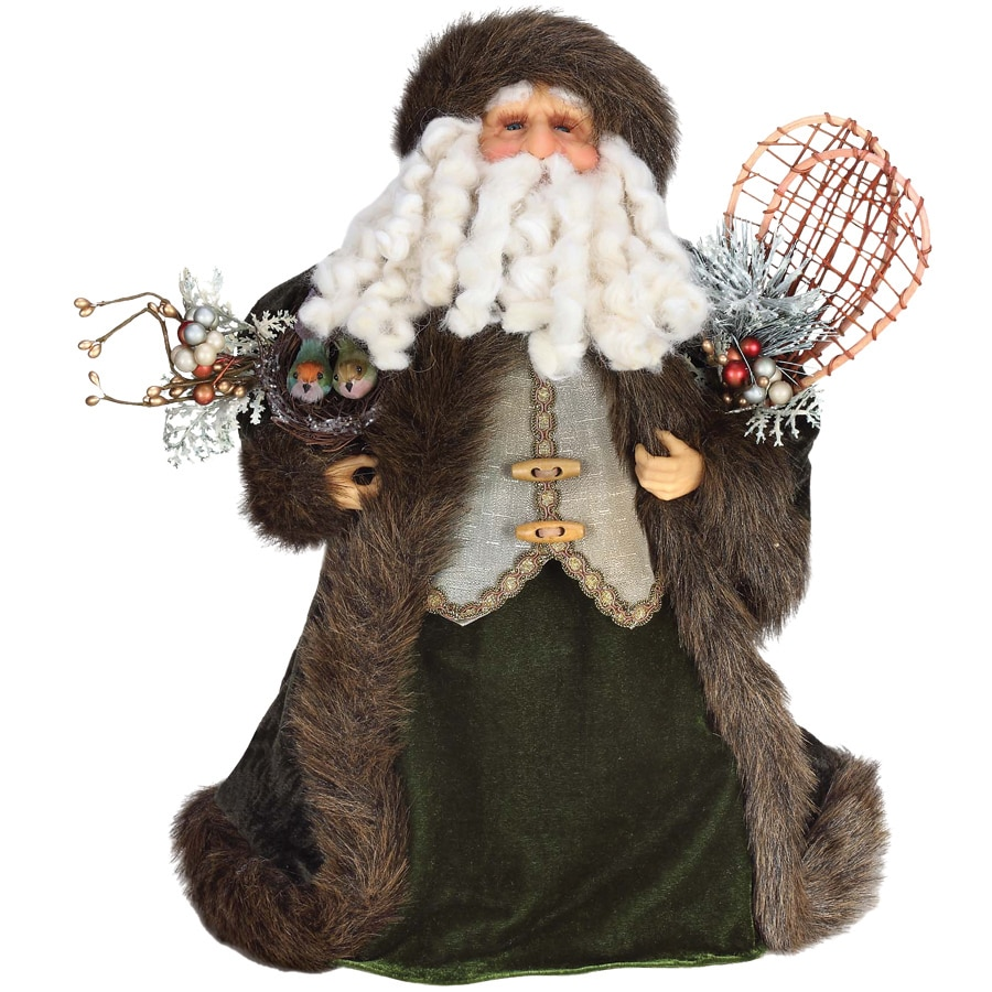 Roman 17-in Fabric Santa Christmas Tree Topper