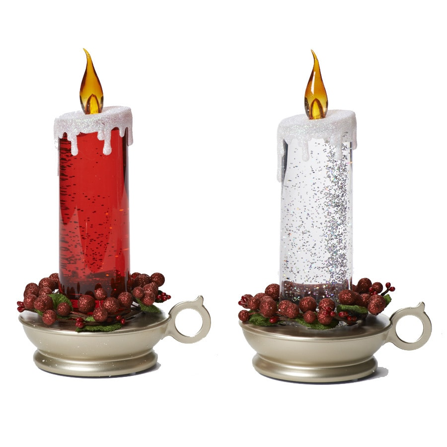 Holiday Living 10.75-in LED Electric Pillar Candle