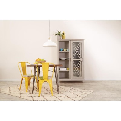OSP Home Furnishings Bristow Modern Yellow/Pine Alice Accent ...