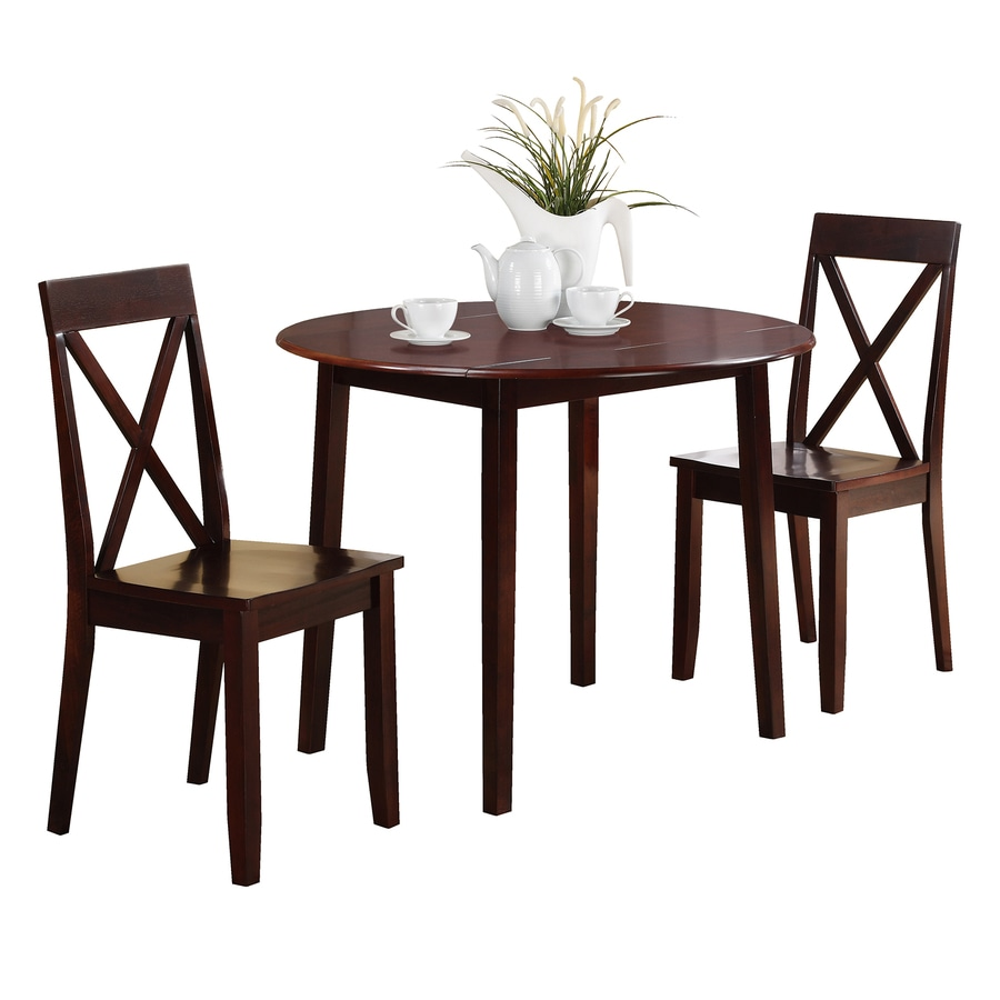 OSP Designs Espresso Dining Set With Round (29 In To 31 In)