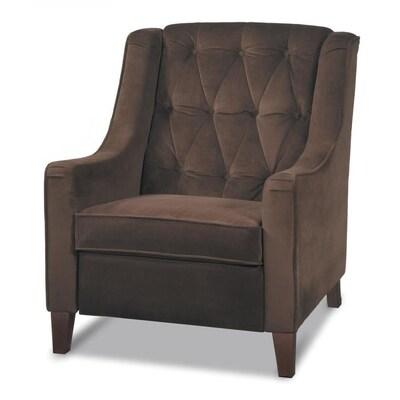 Enjoyable Avenue Six Casual Chocolate Velvet Velvet Accent Chair Machost Co Dining Chair Design Ideas Machostcouk